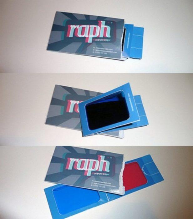 tarjetas de presentacion lentes 3d