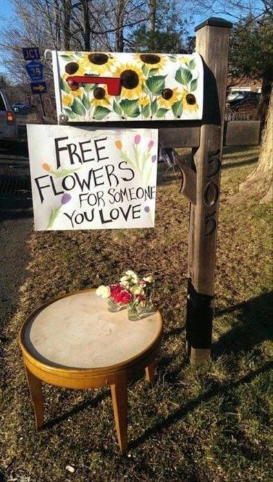 cartel de flores gratis