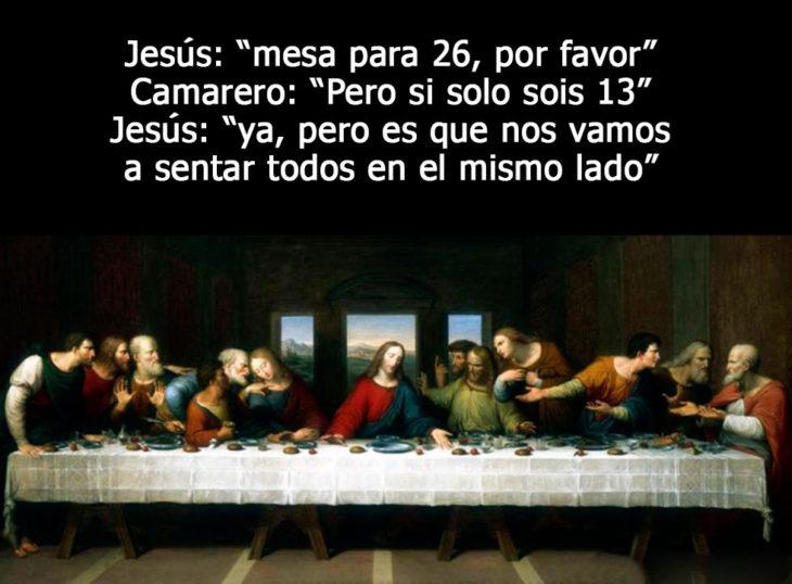 imagen medieval la última cena