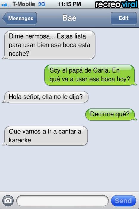 Mensaje de texto karaoke
