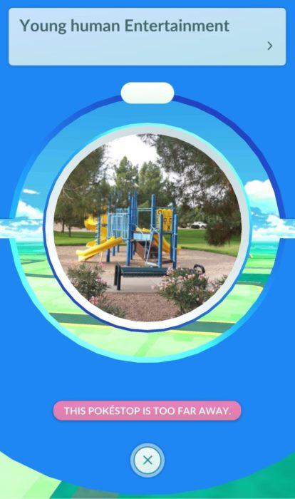 Adictos Pokemón Go en el parque