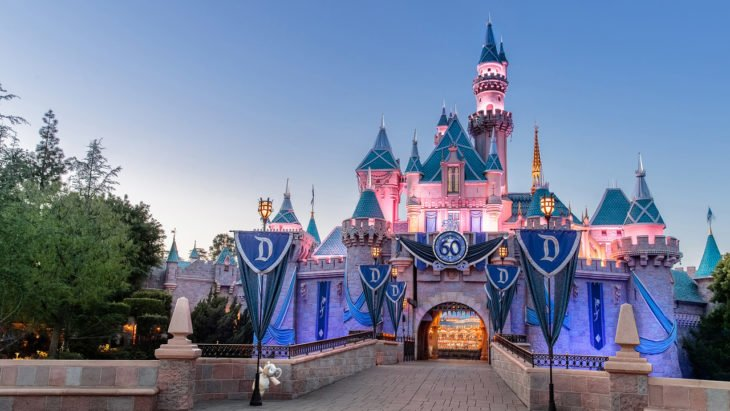 conociendo el castillo de Disneyland