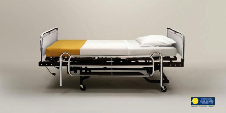 cama con funda de cigarro
