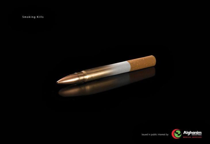en forma de bala