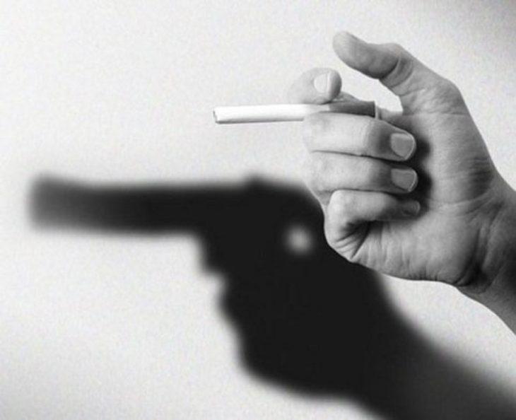 cigarro en forma de pistola