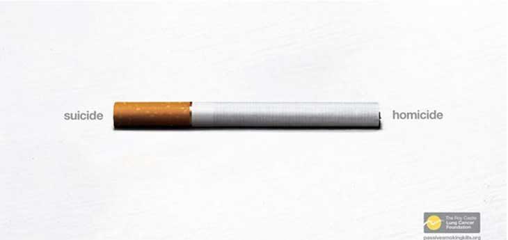 fumador con balas