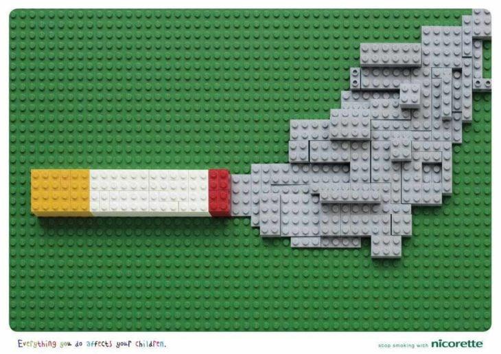 campaña de legos contra el cigarro