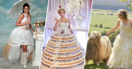 COVER 15 vestidos de novia mas ridículos de la historia que de seguro ahuyentaron al novio