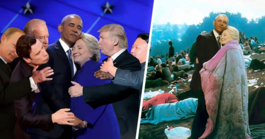 COVER Abrazo de Hillary y Obama causa épica batalla de photoshop