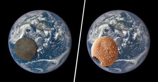 COVER Astronauta postea hermosa foto de la tierra junto a la luna e Internet lo trollea