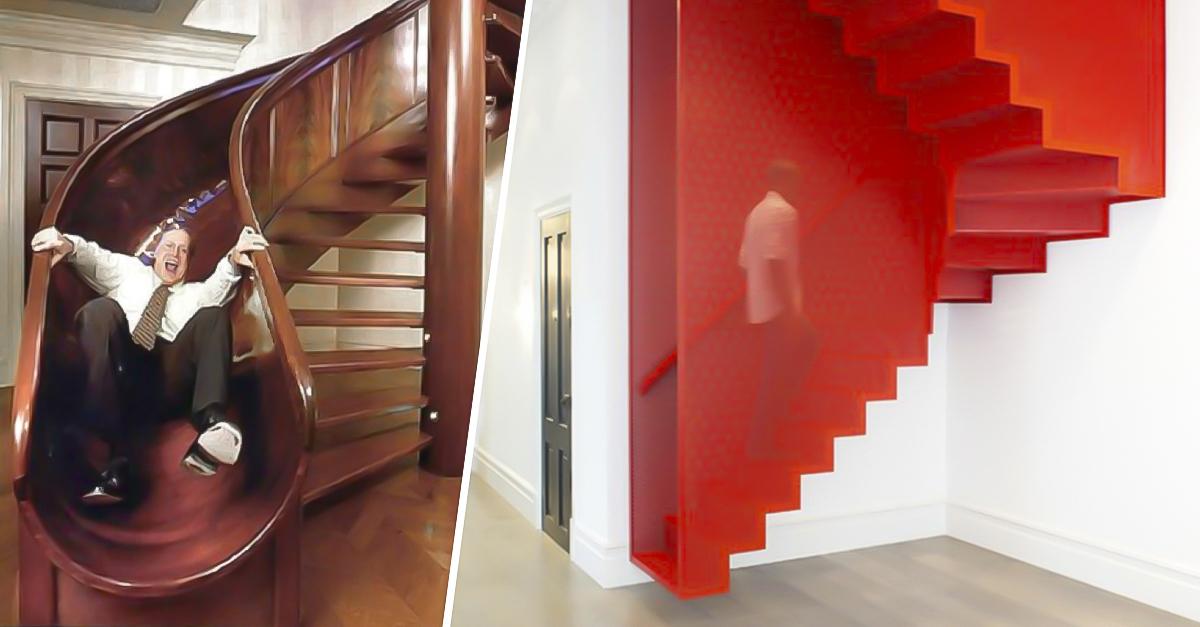 15 escaleras tan originales que desear s tener en tu casa for Escaleras para casas de 2 pisos