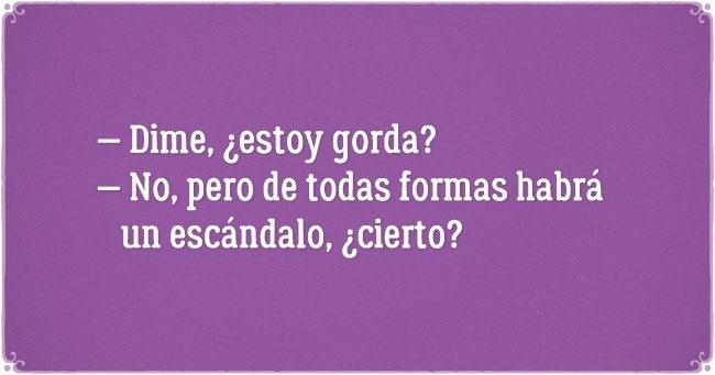MORADO ESTOY GORDA?