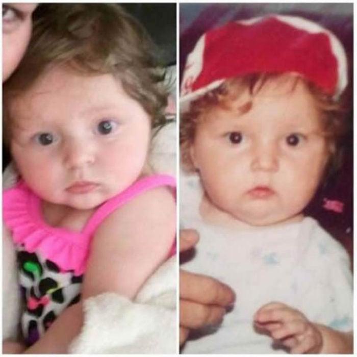 Foto de hijo idéntico a madre