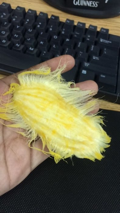 semilla de mango chupado