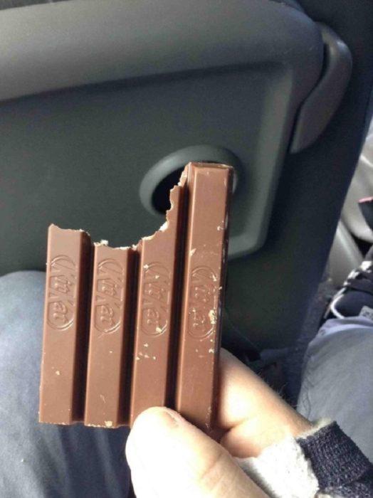 chocolate en diferentes barras morodidas