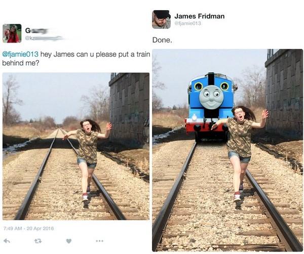 James Fridman puedes poner un tren atrás