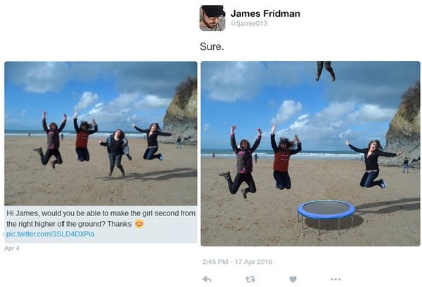 James Fridman que no esté en el suelo