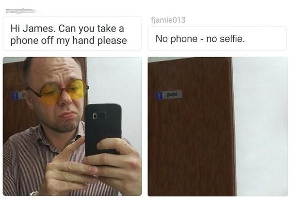 James Fridman puedes quitar el celular