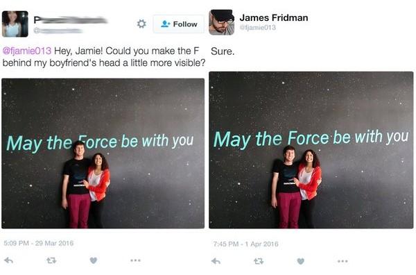James Fridman que la fuerza esté contigo