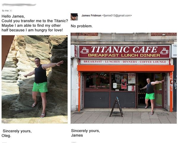 James Fridman ponme en el titanic