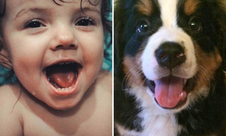 Niño con perro pequeño