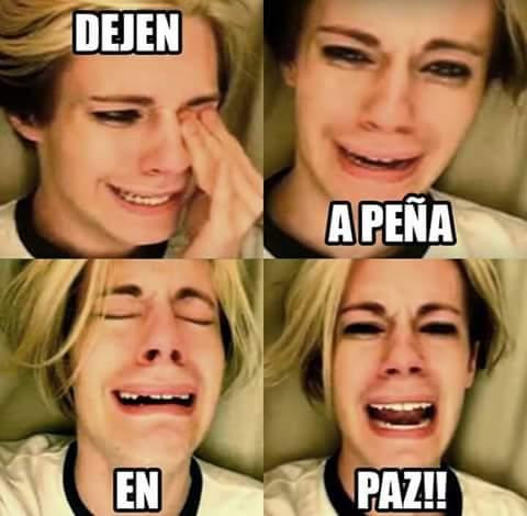 mujer llorona en meme para peña