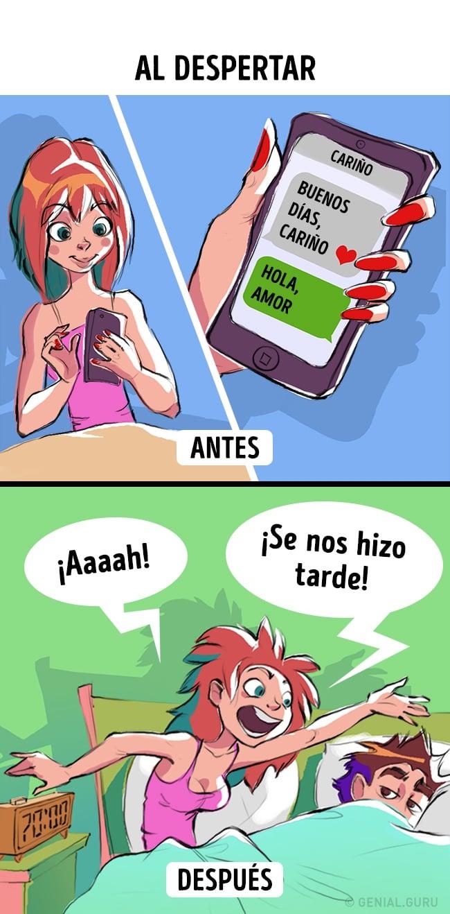 Mujer mandando mensajes de texto