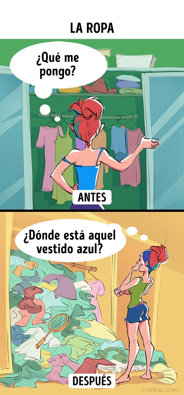 Mujer buscando ropa