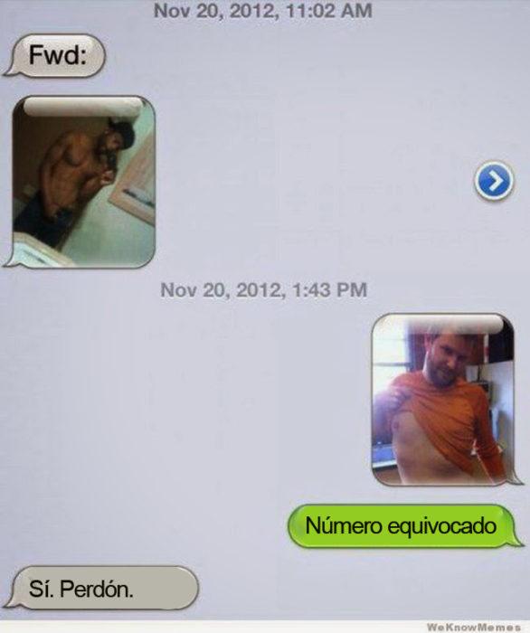 Mensajes equivocados. Fotos de dos hombres sin camisa