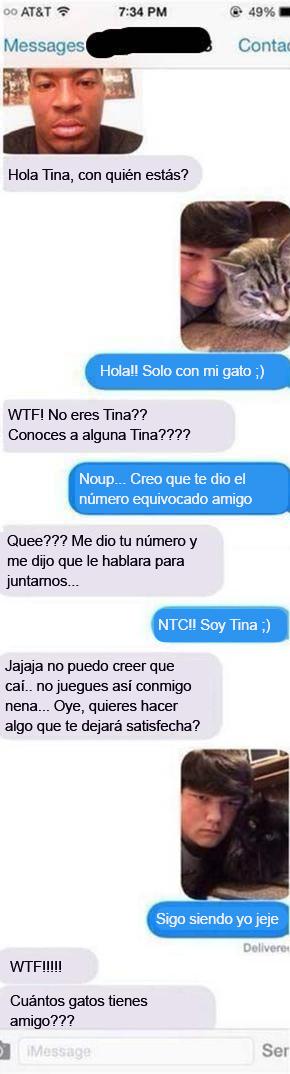 Mensajes equivocados. Conoces alguna Tina?
