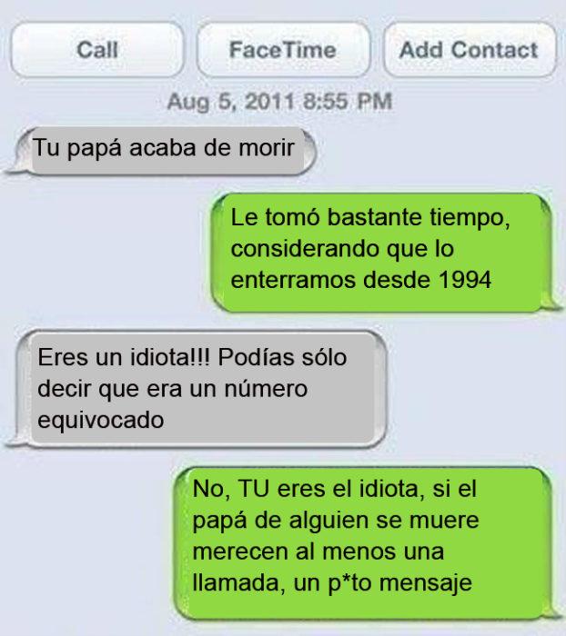 Mensajes equivocados. Tu papá acaba de morir