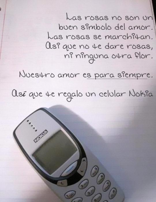 Nuestro amor es para siempre, te regalo un Nokia