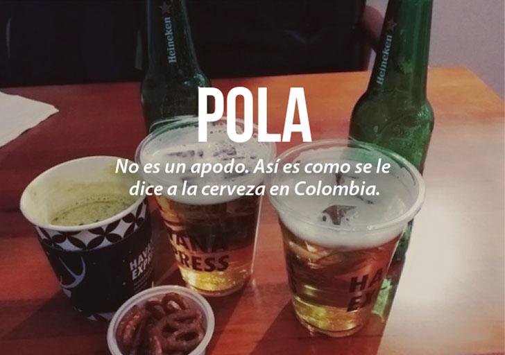 Modismos colombianos. Pola