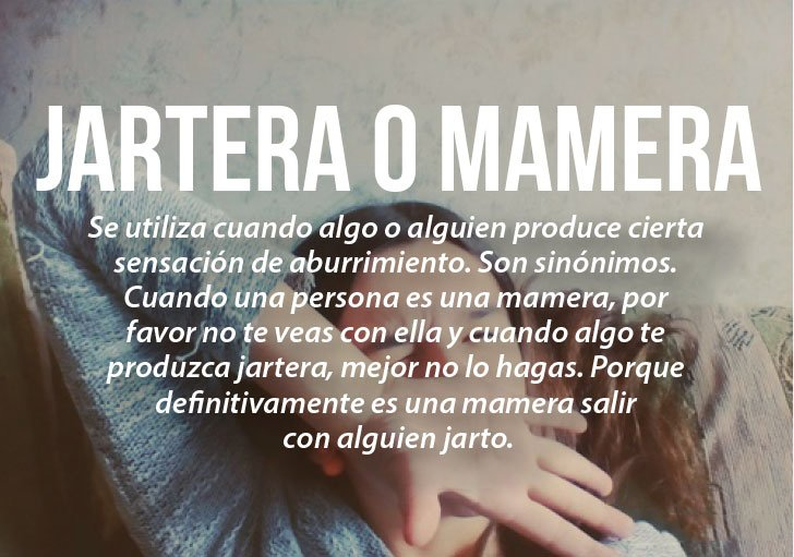 Modismos colombianos. Mamera