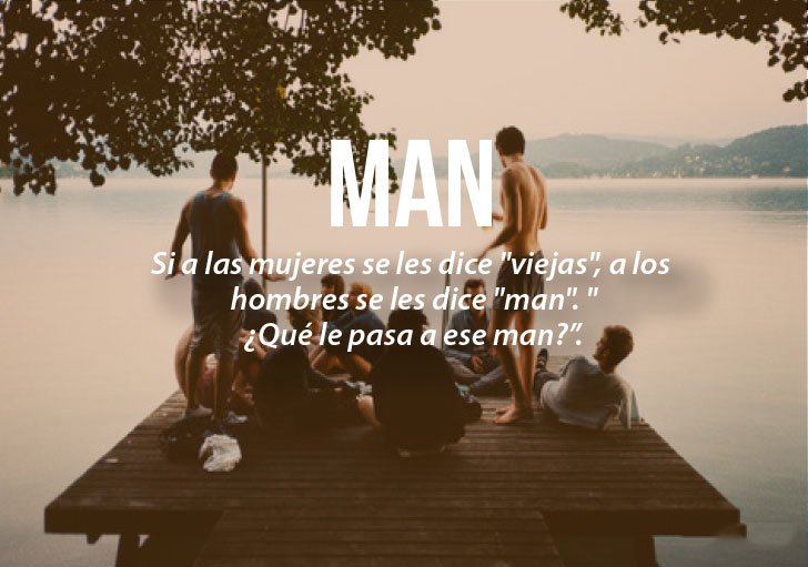 Modismos colombianos. Man