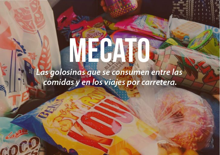 Modismos colombianos. Mecato
