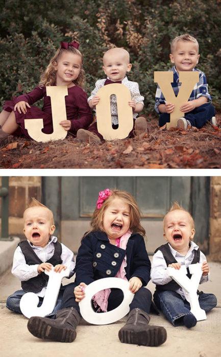 hermanos demostrando su felicidad