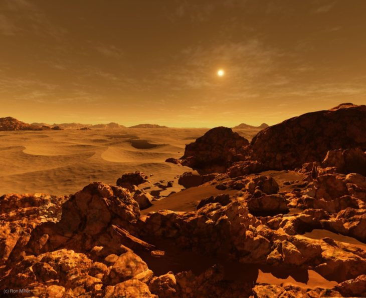 Marte visto desde la cámara de ron miller