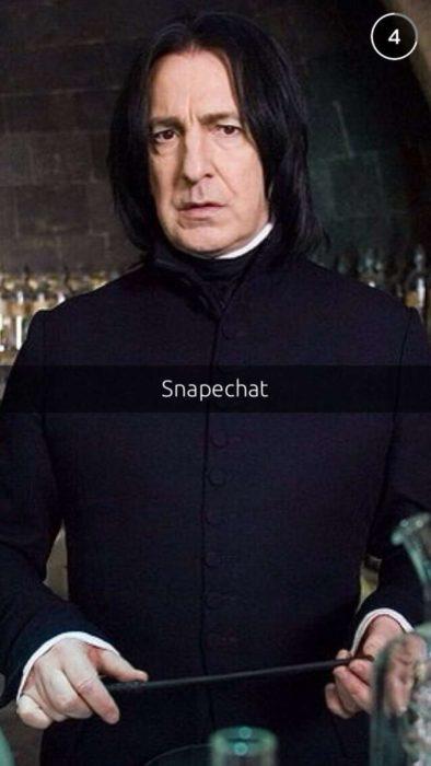 Snapchat Divertidos. Una foto de Snape