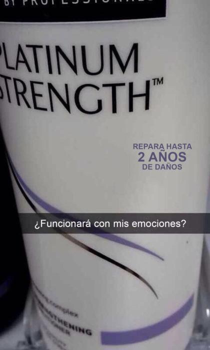 Snapchat Divertidos. Shampoo que repara 2 años de daños