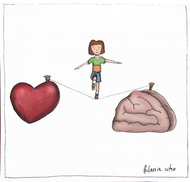 Entre corazón y cerebro