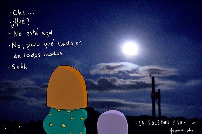 Admirando la luna llena