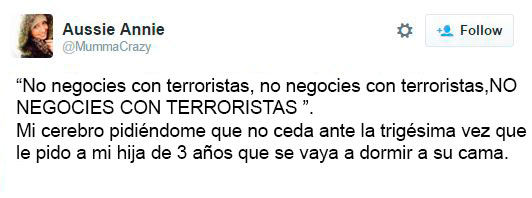 no negocies con terroristas