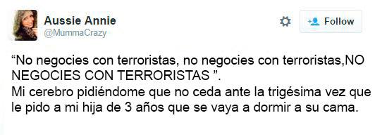 no negocies con terroristas