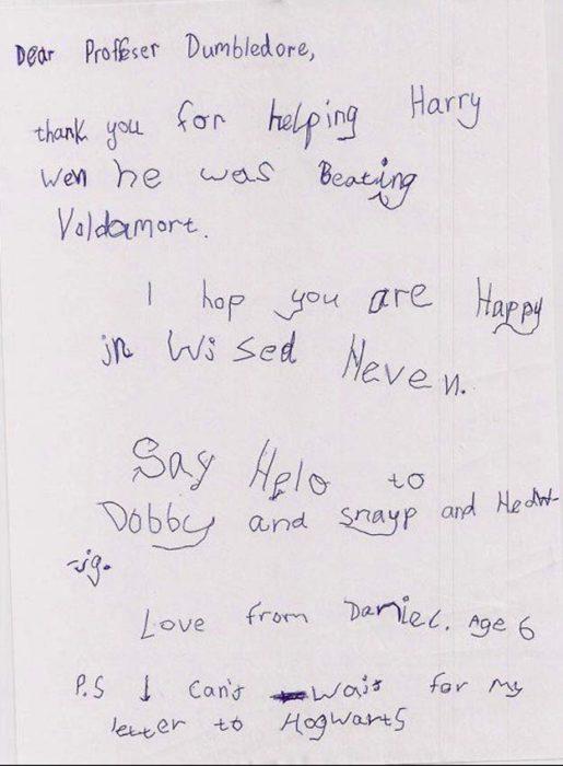 carta a Harry Potter
