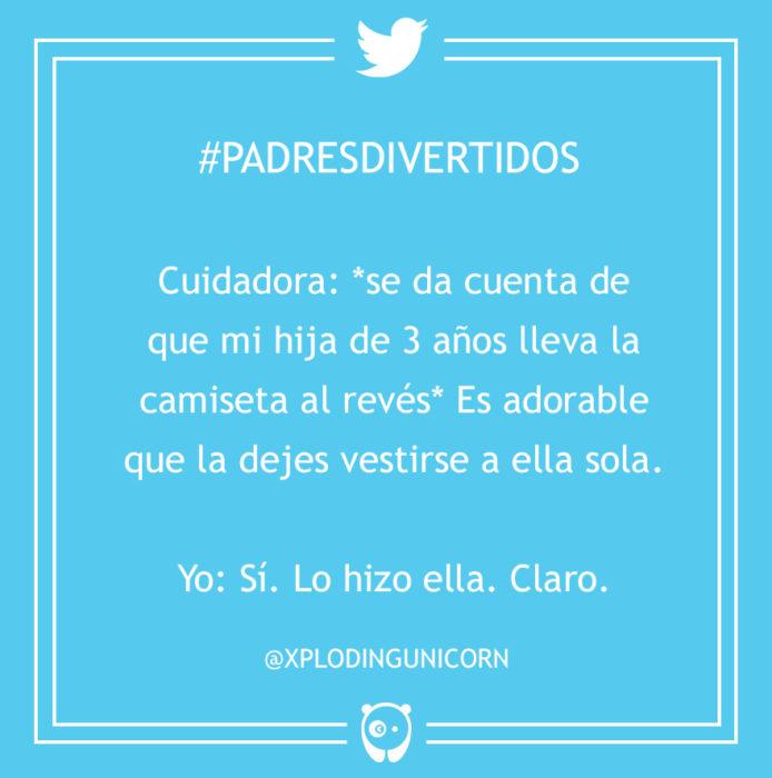 #PadresDivertidos es adorable que la dejes vestirse sola