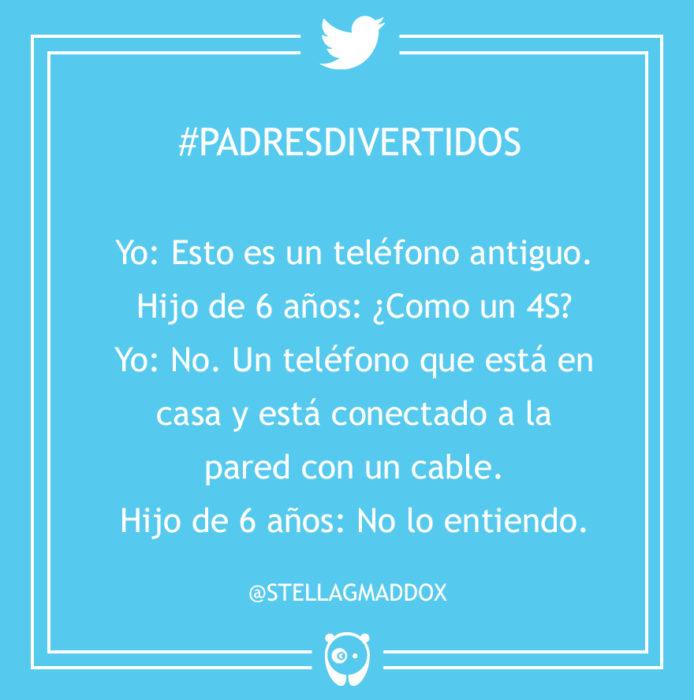 #PadresDivertidos es un teléfono antiguo