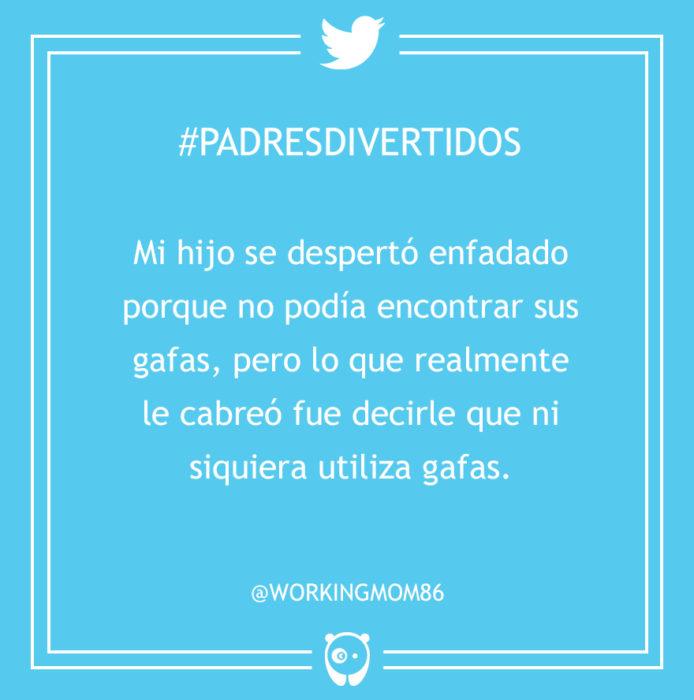 #PadresDivertidos no encontraba sus gafas