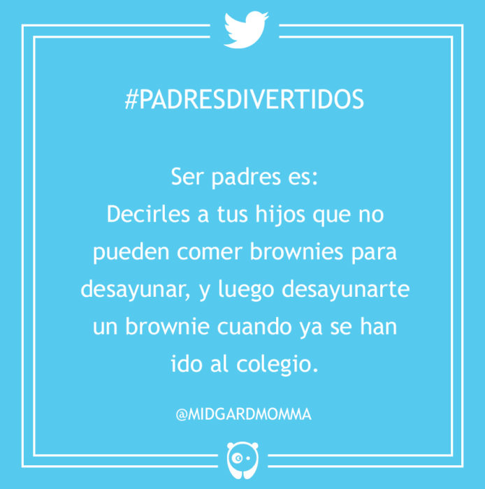 #PadresDivertidos no pueden desayunar brownies