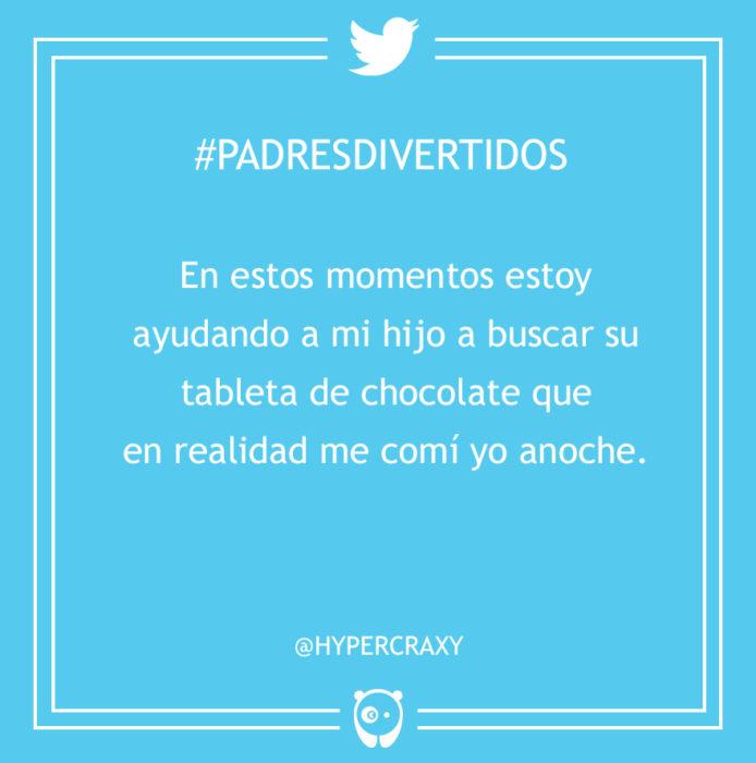 #PadresDivertidos ayudo a buscar un chocolate de mi hijo